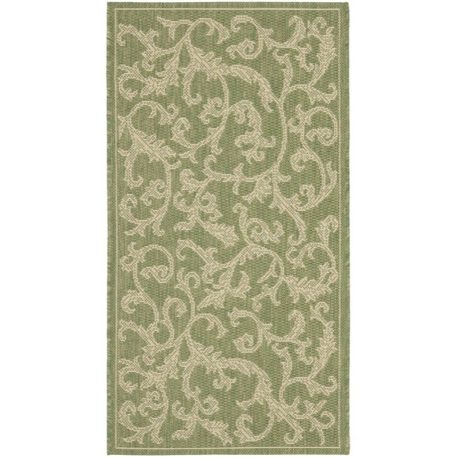 "Safavieh Poolside Olive/Natural Indoor/Outdoor Accent Rug (2' x 3'7"") at Sears.com"