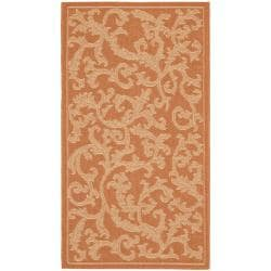 "Poolside Terracotta/Natural Polypropylene Indoor/Outdoor Rug (2' x 3'7"")"
