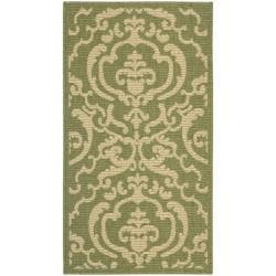 Poolside Olive/ Natural Indoor/ Outdoor Rug (2' x 3'7)