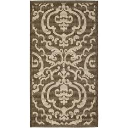 "Safavieh Poolside Chocolate/Natural Power-Loomed Indoor/Outdoor Rug (2' x 3'7"")"