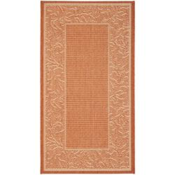 Poolside Terracotta/ Natural Indoor/ Outdoor Rug (2' x 3'7)