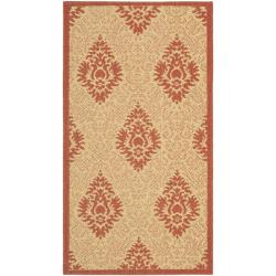 Poolside Natural/ Red Indoor/ Outdoor Rug (2' x 3'7)