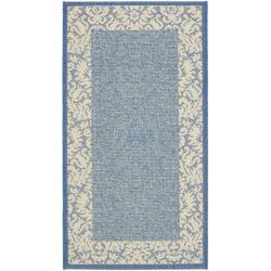 Safavieh Poolside Rectangles Blue/ Natural Indoor/ Outdoor Accent Rug (2' x 3'7)