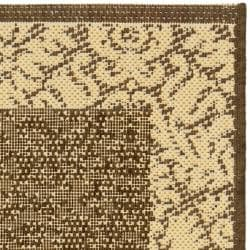 Poolside Chocolate/ Natural Indoor/ Outdoor Rug (2' x 3'7)