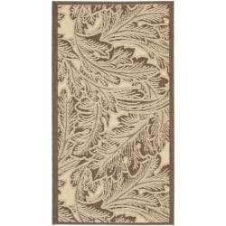 Poolside Natural/ Chocolate Indoor/ Outdoor Rug (2' x 3'7)