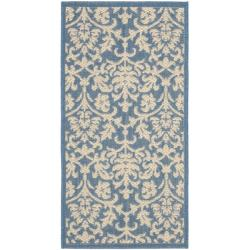 Poolside Blue/ Natural Indoor/ Outdoor Rug (2' x 3'7)