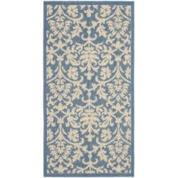 Safavieh Poolside Blue/ Natural Indoor/ Outdoor Rug (2' x 3'7)
