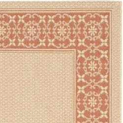 Poolside Cream/ Terracotta Indoor/ Outdoor Rug (5'3 x 7'7)