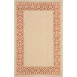 Poolside Cream/ Terracotta Indoor/ Outdoor Rug (8' x 11'2)