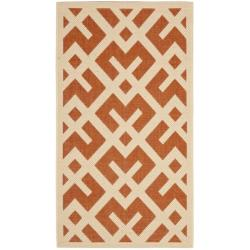 Poolside Terracotta/ Bone Indoor/ Outdoor Rug (2' x 3'7)