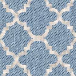"""Safavieh Poolside Blue/Beige Indoor/Outdoor Polypropylene Rug (2' x 3'7"""")"""