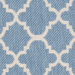 Poolside Blue/Beige Indoor/Outdoor Polypropylene Rug (2' x 3'7