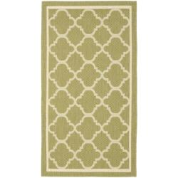 "Safavieh Poolside Green/Beige Indoor/Outdoor Accent Rug (2' x 3'7"")"