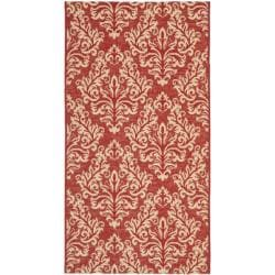 Poolside Red/ Cream Indoor/ Outdoor Rug (2'7 x 5')