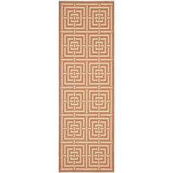 Poolside Terracotta/ Cream Indoor/ Outdoor Rug (2' x 3'7)