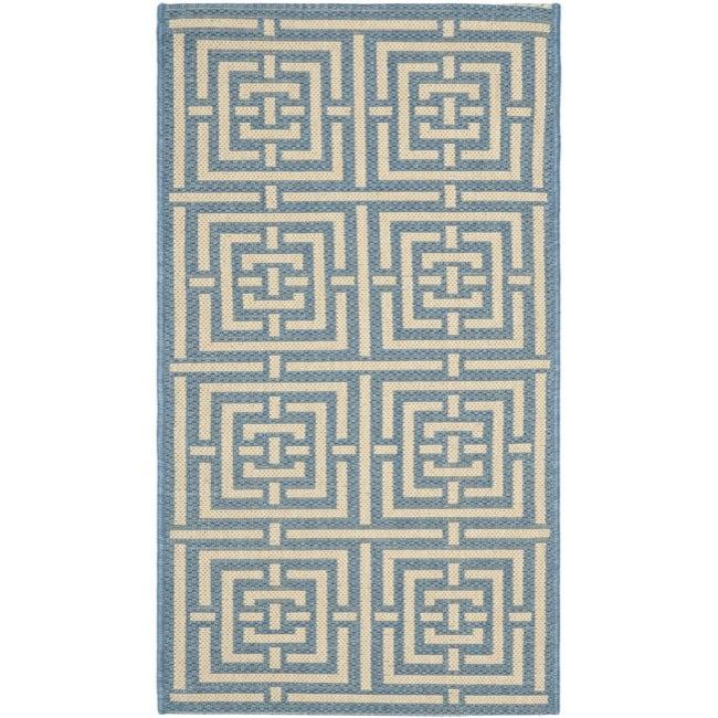 Safavieh Poolside Blue/ Bone Indoor/ Outdoor Rug (2' x 3'7)