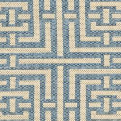 Poolside Blue/ Bone Indoor/ Outdoor Rug (2' x 3'7)