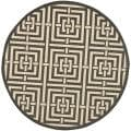 Poolside Black/ Bone Indoor/ Outdoor Rug (6'7 Round)