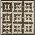 Poolside Black/ Bone Indoor/ Outdoor Rug (6'7 Square)