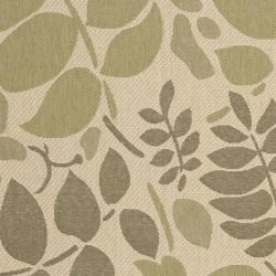 Safavieh Poolside Cream/ Green Indoor/ Outdoor Rug (4' x 5'7)