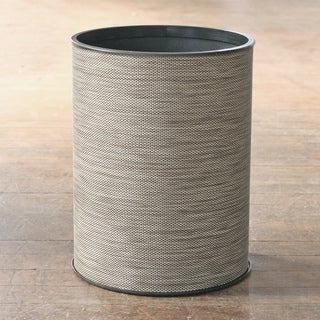 1530 LaMont Home Cambria Round Sage / Brown Wastebasket