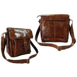 Amerileather Brown Finn Messenger Bag