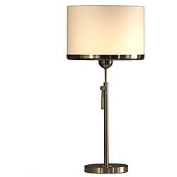 White Nova Brim Table Lamp