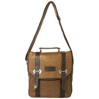 Amerileather Granger Two-tone Brown Messenger Bag