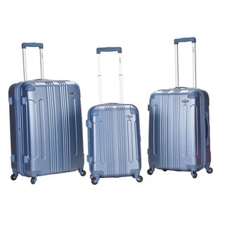 Rockland London Light Weight Expandable Blue 3-piece Hardside Spinner Upright Luggage Set