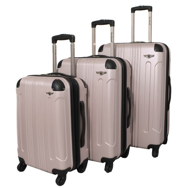 Rockland London Lightweight Champagne 3-piece Hardside Spinner Upright Luggage Set