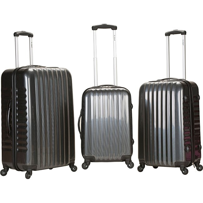Rockland Vernon Lightweight Carbon 3-piece Hardside Spinner Upright Luggage Set