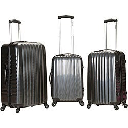 Rockland Vernon Lightweight Carbon 3-piece Hardside Spinner Upright Luggage Set