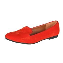 Refresh by Beston Women's 'Belin-03' Orange Suede Flats