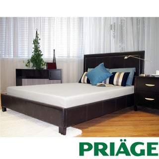 Priage Green Tea/ Charcoal  6-inch Twin-size Memory Foam Mattress