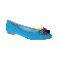 Refresh by Beston Women's 'Julia' Blue Tassel Flats