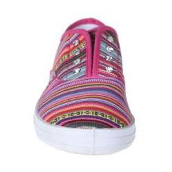 Refresh by Beston Women's 'Lace-01' Fuchsia Bohemian Sneakers