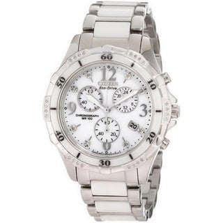 Citizen Women's Eco-drive Ceramic Diamond Watch