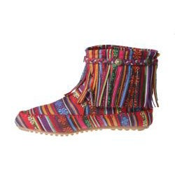 Refresh by Beston Women?s 'Mini-01' Bohemian Fringe Ankle Booties