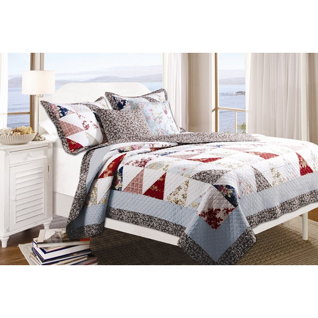 Greenland Home Fashions Harbor Sky 3-piece Quilt Set