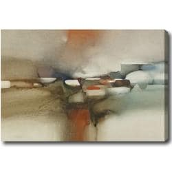 Large Horizontal Abstract Oil on Canvas Art