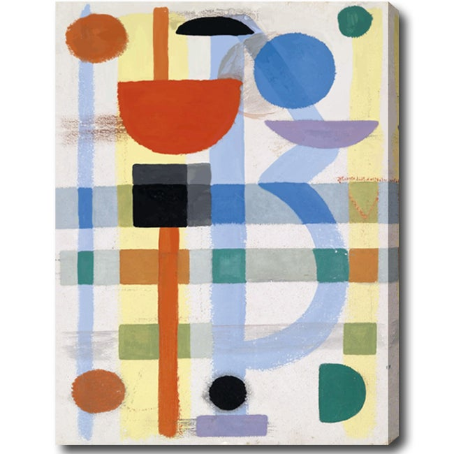 Contemporary 'Abstract' Gallery-Wrapped Canvas Art