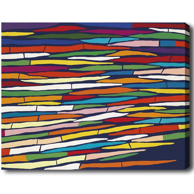 Vertical 'Abstract' Gallery-Wrapped Canvas Art