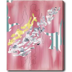 'Abstract' Gallery-Wrapped Square Canvas Art