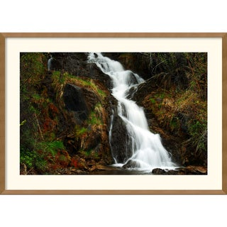 Andy Magee 'Mountain Waterfall' Framed Art Print
