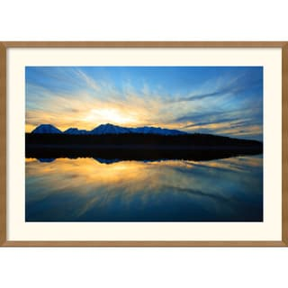 Andy Magee 'Sunset on Jackson Lake' Framed Art Print