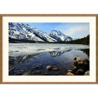 Andy Magee 'Grand Tetons at Jenny Lake' Framed Art Print