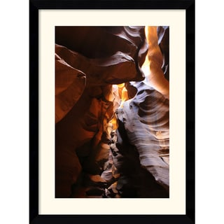 Andy Magee 'Antelope Canyon Lightplay' Medium Framed Art Print