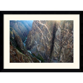 Andy Magee 'Black Canyon Painted Wall' Medium Casual Framed Art Print