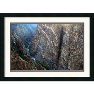Andy Magee 'Black Canyon Painted Wall' Small Casual Framed Art Print