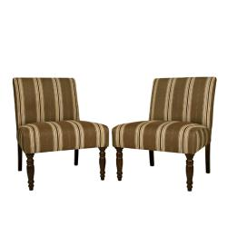 angelo:HOME Bradstreet Modern Autumn Brown Armless Chairs (Set of 2)